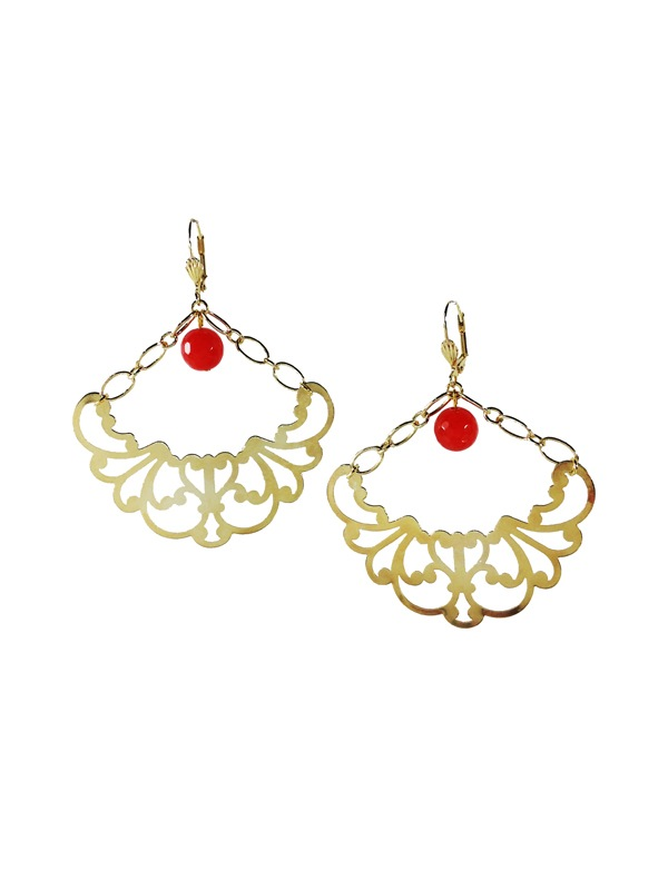 Gold plated earrings Crescent