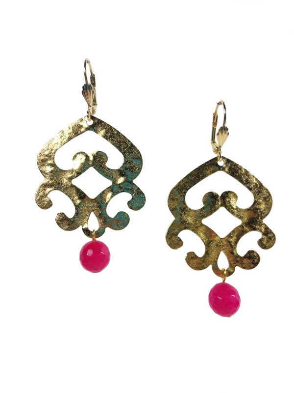 Gold plated earrings Inca
