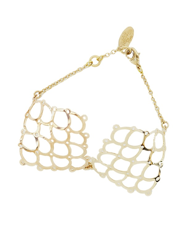 Gold plated bracelet Square