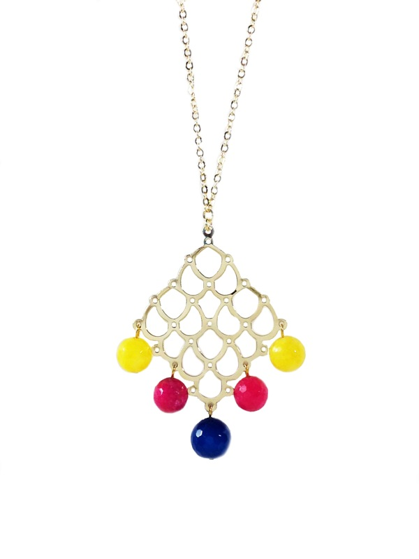 Gold plated pendant Arlequin