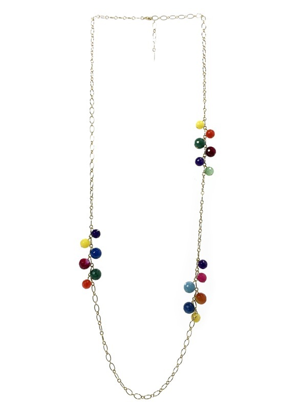 Gold plated longnecklace Arlequin
