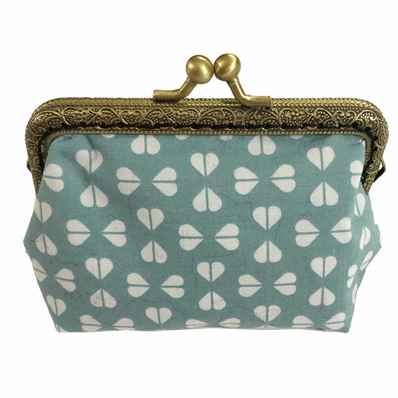 Large purse pale green